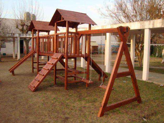 Juegos de madera y mangrullos para el jardin en buenos aires