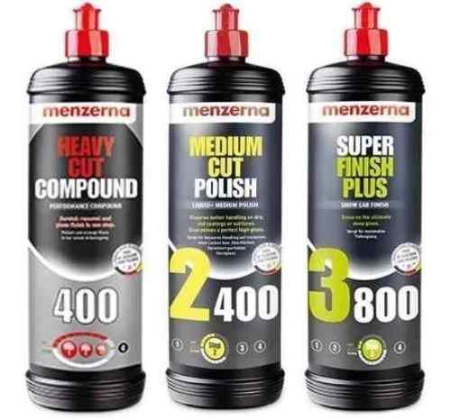 Kit combo menzerna 3 pasos - fg400 2400 3800 - allshine