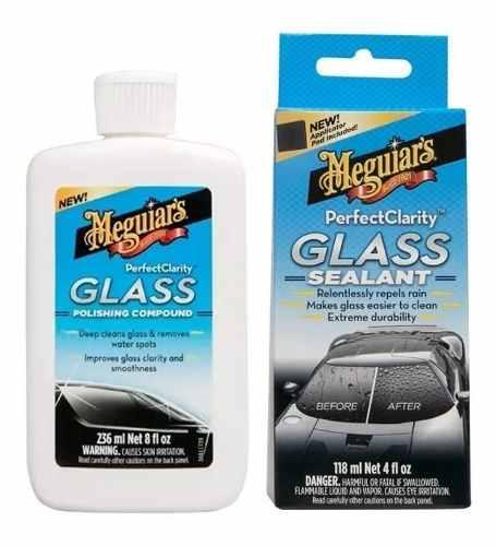 Kit meguiar's - pulidor y sellador de vidrios parabrisas