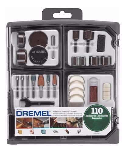 Kit set 110 accesorios dremel 709rw mini torno maletin