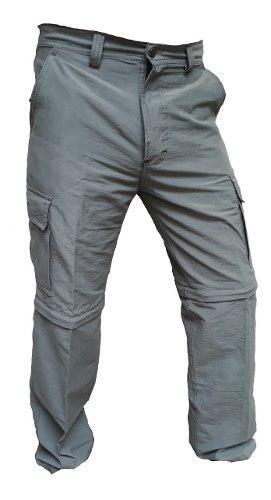 Pantalon cargo desmontable hombre secado rapido trekking
