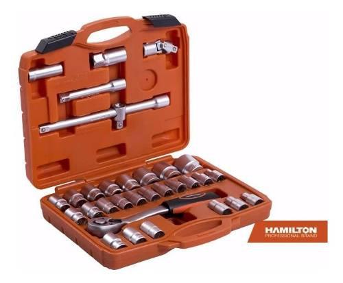 Set bocallaves tubos y accesorios enc 1/2 32 pzs hamilton