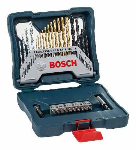 Set x-line bosch 30 accesorios para perforar y atornillar