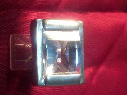 Anillo plata 925 piedra sintetica color lavanda medida 17/18