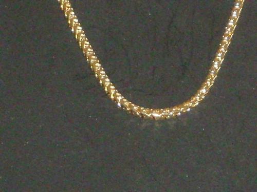 Antigua cadenita cadena dorada color oro s/uso retro