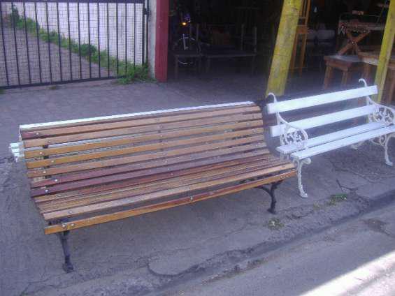 Bancos de plaza madera dura en Don Torcuato