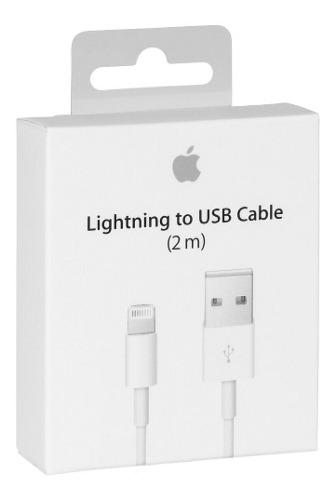 Cable usb lightning apple iphone 5 6 plus 2 metros