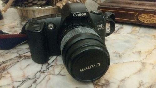 Camara 35mm lente ef original cannon eos rebel g, a revisar