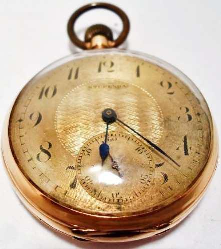Reloj antiguo de bolsillo permuto de oro 18k