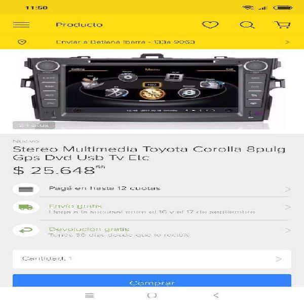 Stereo para modelos de toyota