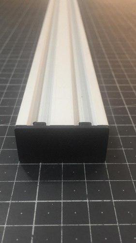 Tapa punta extremo perfil 2040 v-slot negra accesorio