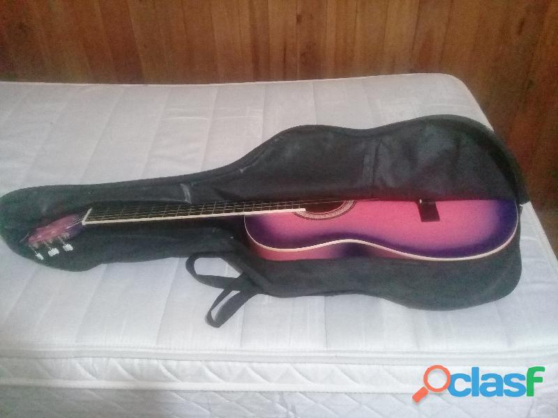 Guitarra Criolla Aymara Con Funda Negra 5
