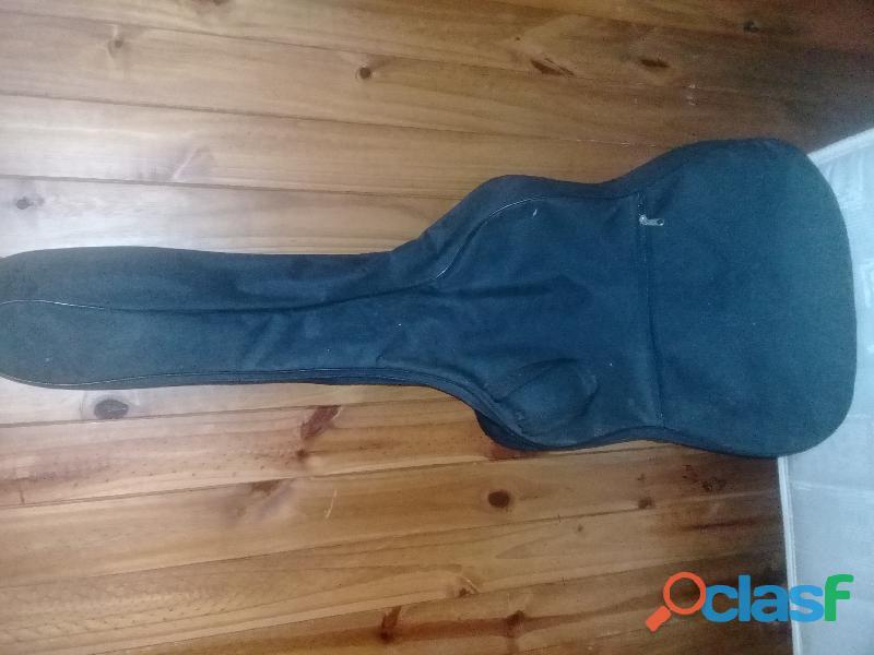 Guitarra Criolla Aymara Con Funda Negra 4