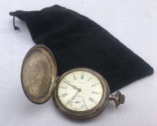 Antiguo reloj bolsillo longines año 1900 en plata