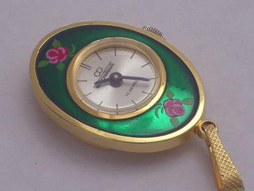 Antiguo reloj colgante cuerda manual marca grovana dec 1960