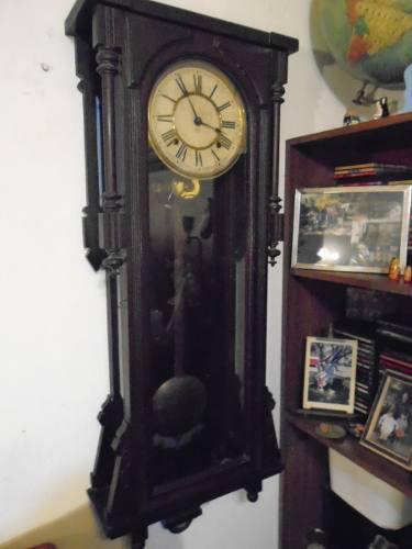 Antiguo reloj de pared importante de 1.10 por 40 ansonia