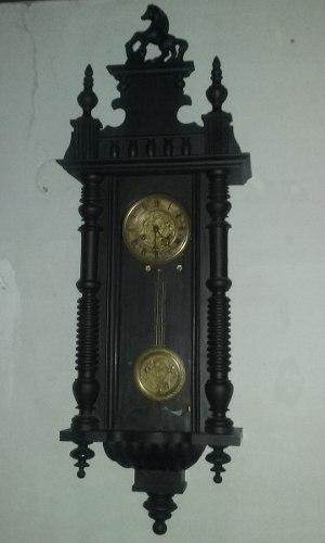 Antiguo reloj de pared thomas haller a pendulo aleman 1900