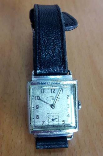 Antiguo reloj election grand prix a cuerda acero art deco