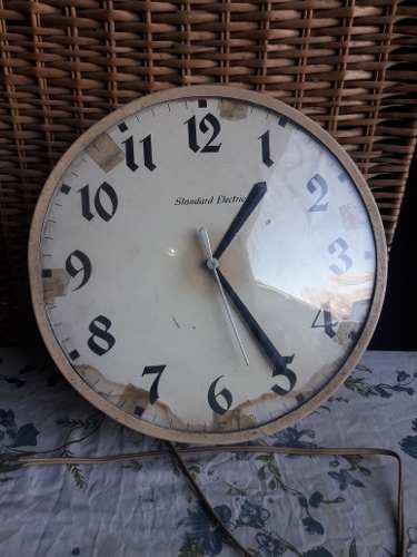 Antiguo reloj electrico de chapa