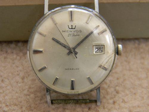 Antiguo reloj mervos incabloc automatic 21 jewells gota agua