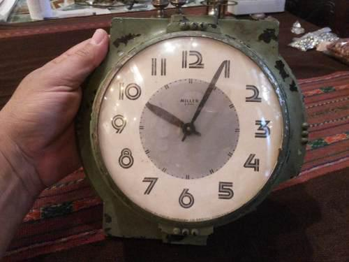 Antiguo reloj pared miller 8 dias a restaurar vintage retro
