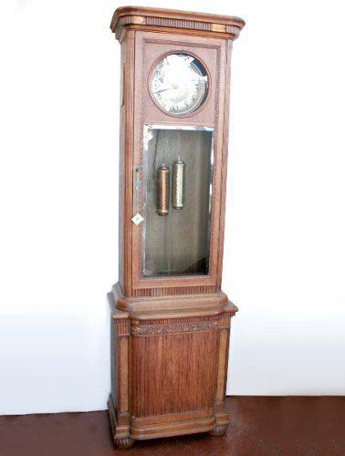 Antiguo reloj pie madera péndulo alto - antig la rueda _ l