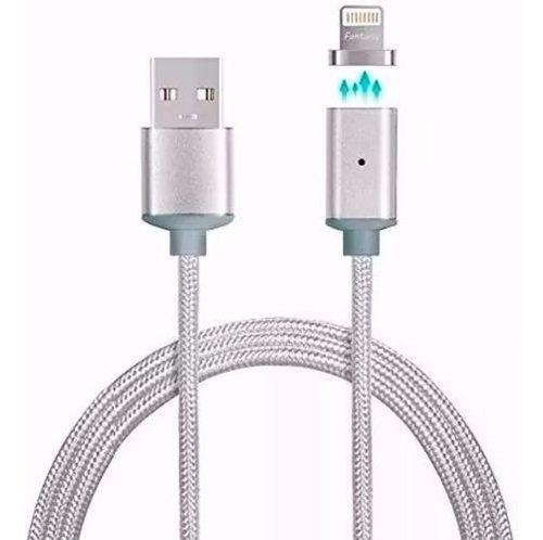 Cable magnetico iman cargador lightning mallado phone