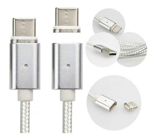 Cable magnetico iman cargador micro usb mallado fact a