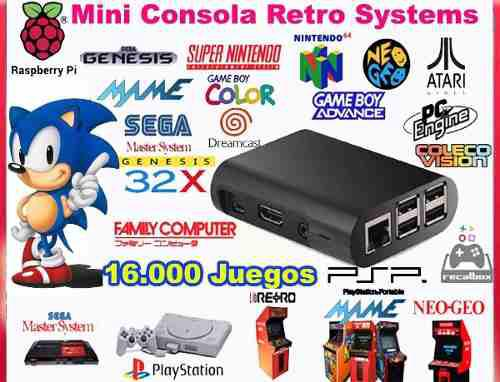 Consola Retro Video Juegos 64 Gb + 2 Joysticks Inalambricos