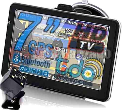Gps 7 hd tv digital igo bluetooth 4gb con camara trasera