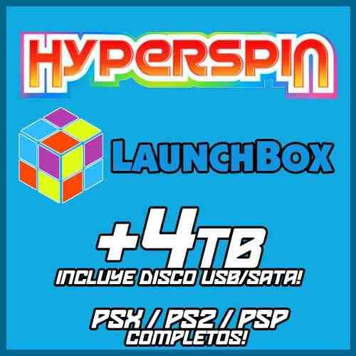 Hyperspin / launchbox 4tb con disco incluido usb / sata -
