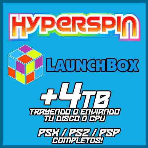 Hyperspin / launchbox / bigbox 4tb - ps1 / ps2 y psp full