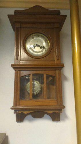 Imponente reloj aleman junghans pendulo a cuerda antiguo