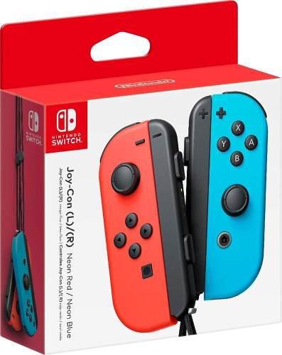 Joy-con neon rojo y azul nintendo switch original caja