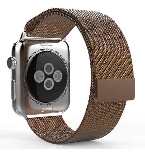 Malla metalica imantada apple watch 38 40 42 44 mm colores