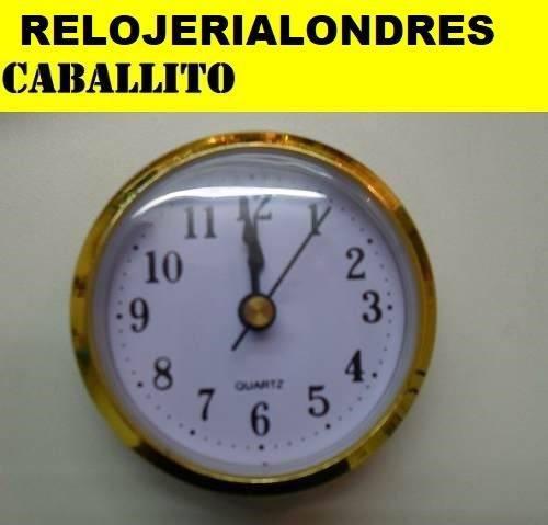 Maquinas relojes insertos 6,5cm x 10 ideal artesania souveni