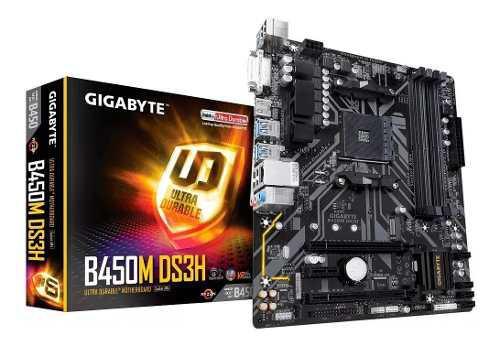 Motherboard amd gigabyte ga-b450m ds3h am4 ddr4 b450 xellers