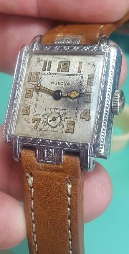 Reloj antiguo bulova calibre 10 an cuerda manual ver fotos!!