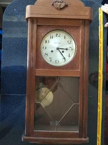 Reloj antiguo campana de pared a cuerda. casa escasany 1933