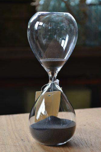 Reloj de arena negra 30 minutos estilo antiguo 20.5x8cm