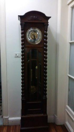 Reloj de pie aleman antiguo roble gran tamaño