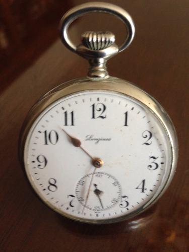Reloj longines de bolsillo antiguo la máquina es original
