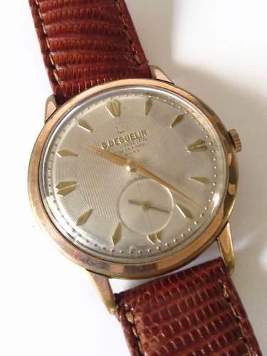 Reloj suizo antiguo george beguelin deluxe a cuerda años`50