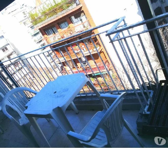 Alquiler 1 amb. con balcón terraza- amoblado- $10.000