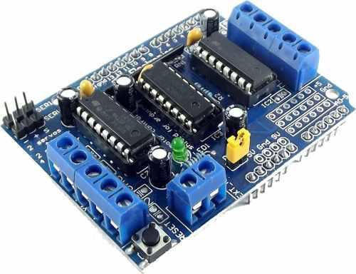 Arduino shield l293 motor stepper servo controlador l293d