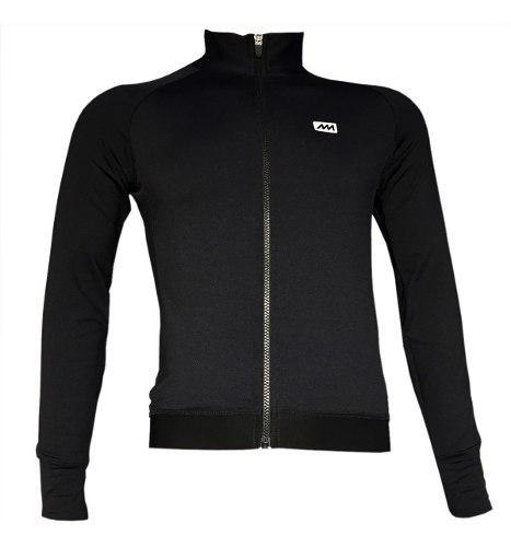 Campera ciclismo frizada magenta negra - epic bikes