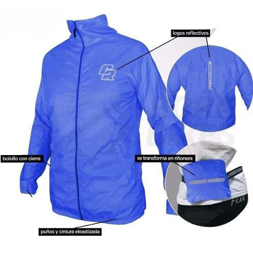 Campera ciclismo rompeviento bicicleta crossroad impermeable