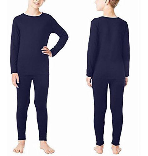 Conjunto térmico niños camiseta + pantalon 4 -12 años.