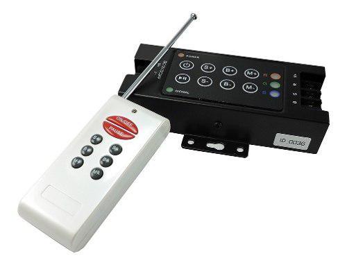 Controladora rgb con control remoto rf 144w 288w 12v/24v led