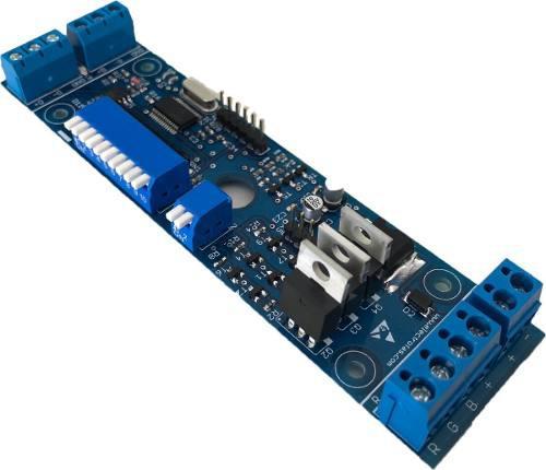 Conversor - receptor dmx - rgb - 4 modos dmx - factura a - b